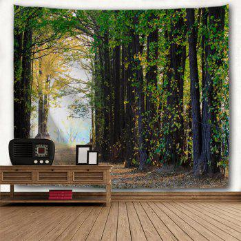 Maple Forest 3D Printing Home Wall Hanging Tapestry for Decoration - multicolor A W200CMXL180CM