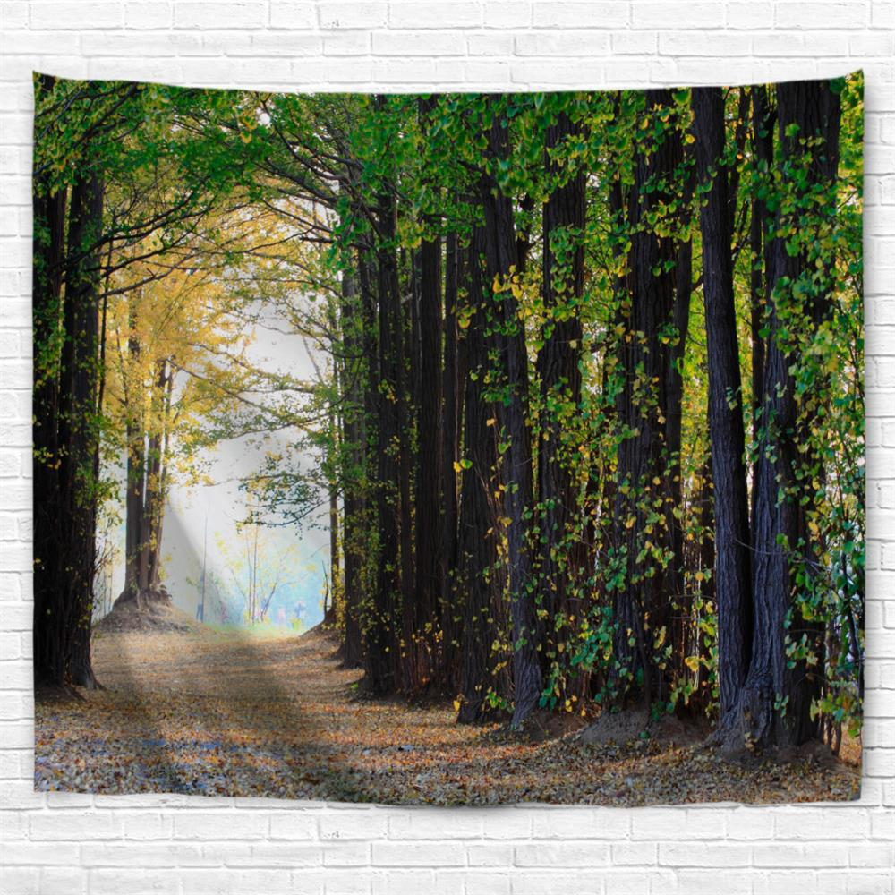 Maple Forest 3D Printing Home Wall Hanging Tapestry for Decoration - multicolor A W229CMXL153CM