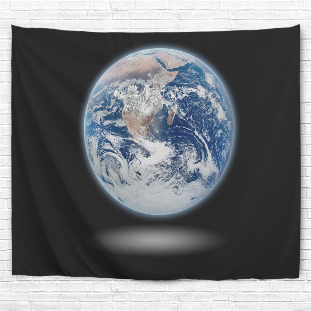 Earth 3D Printing Home Wall Hanging Tapestry for Decoration - multicolor A W200CMXL180CM