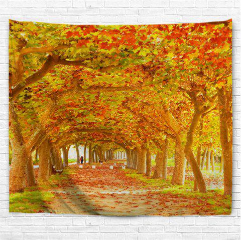 Red Maple Deciduous 3D Printing Home Wall Hanging Tapestry for Decoration - multicolor A W203CMXL153CM