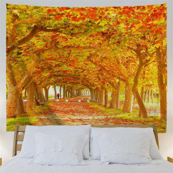 Red Maple Deciduous 3D Printing Home Wall Hanging Tapestry for Decoration - multicolor A W153CMXL102CM