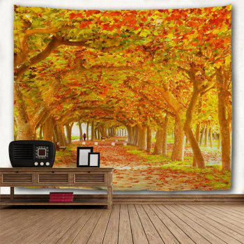 Red Maple Deciduous 3D Printing Home Wall Hanging Tapestry for Decoration - multicolor A W153CMXL130CM