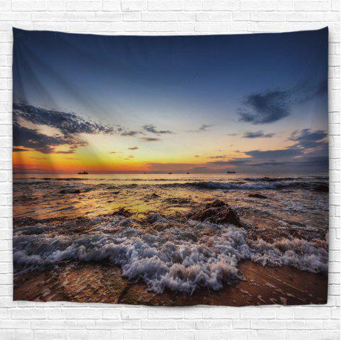 Sunrise Beach 3D Printing Home Wall Hanging Tapestry for Decoration - multicolor A W229CMXL153CM