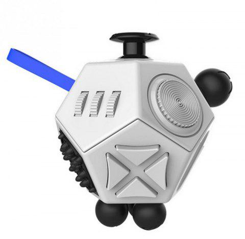 12 Side Magic Fidget Cube Strange Shape Stress Relief Puzzles Plastic Desk Toy - SILVER