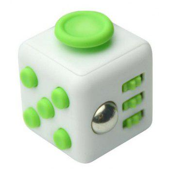 Unlimited Decompression Rubik Cube Antianxiety Fret Decompression Dice Toys - GREEN