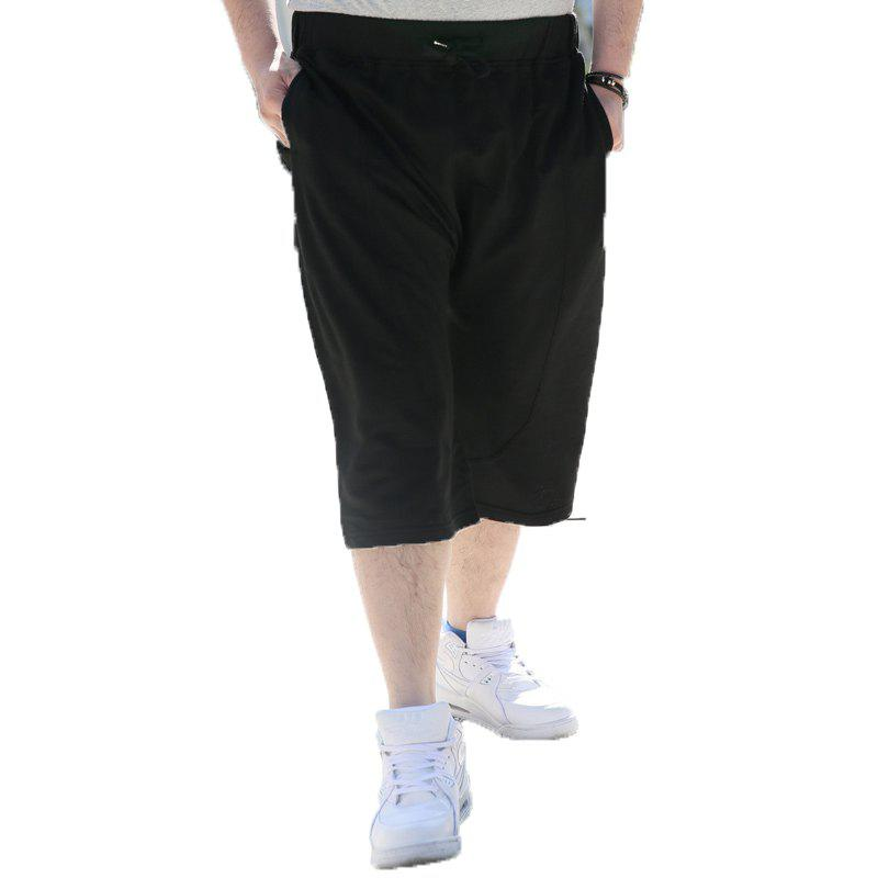Summer Men Hot Sale Large Shorts - BLACK 4XL