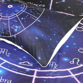 Twelve Constellations Bedding Duvet Cover Set Digital Print 3pcs - multicolor TWIN