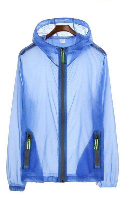 Men's Slim Riding Suit Windproof Large Size Sun-proof Clothing - BLUE ONE SIZE(FIT SIZE XS TO M)