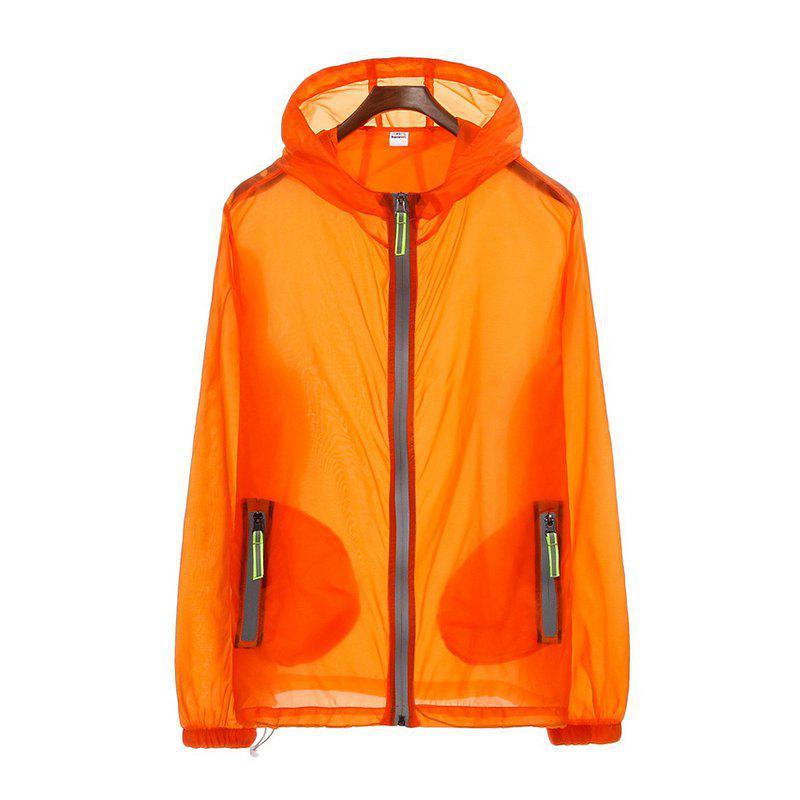 Men's Slim Riding Suit Windproof Large Size Sun-proof Clothing - ORANGE ONE SIZE(FIT SIZE XS TO M)