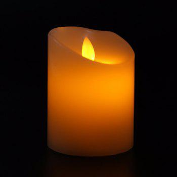 Electronic LED Flameless Candle Romantic Light Home Decoration - YELLOW