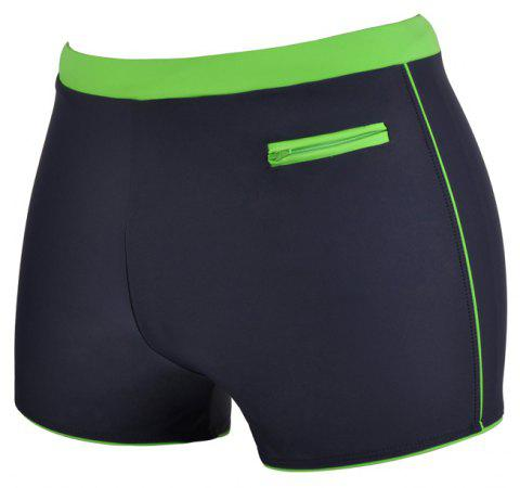 Man Quick-Drying Breathable Boxer Swimming Trunks - SLATE GRAY L