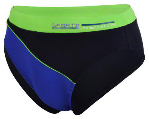 Men's Professional Sexy Triangular Swimming Trunks - NAVY BLUE 2XL