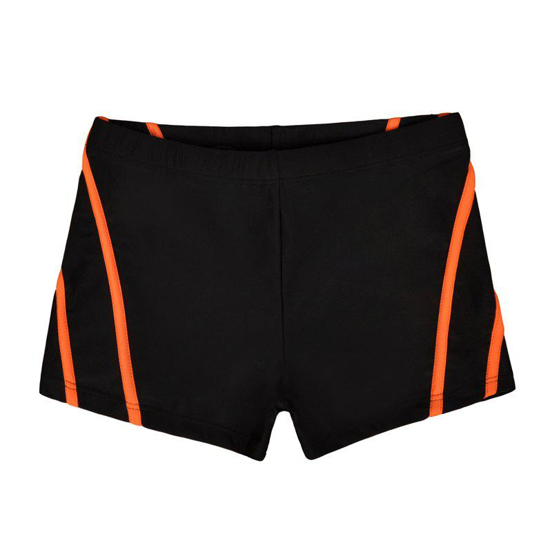 Man City Boy Seaside Holiday Boxer Swimming Trunks - NATURAL BLACK L