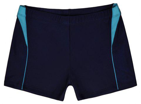 Men Breathable Comfortable Tight Boxer Swimming Trunks - DEEP BLUE 2XL