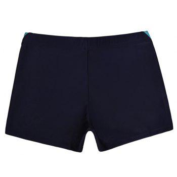 Men Breathable Comfortable Tight Boxer Swimming Trunks - DEEP BLUE XL