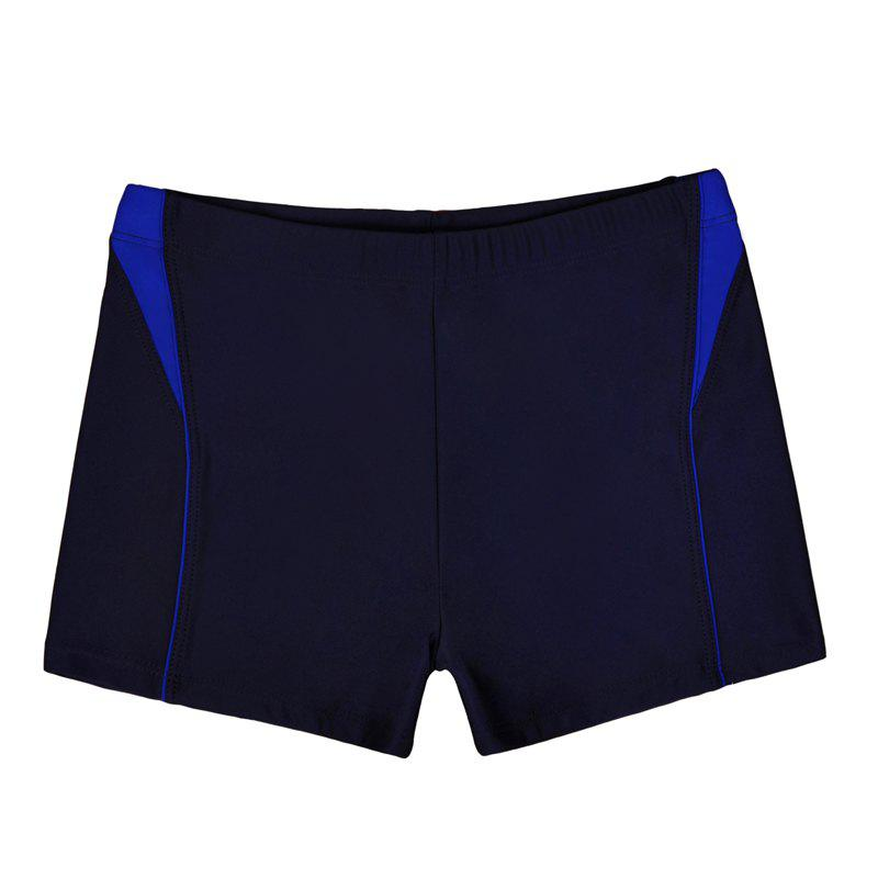 Men Breathable Comfortable Tight Boxer Swimming Trunks - NAVY BLUE 2XL