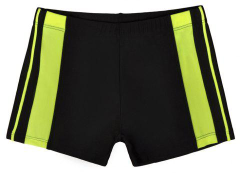 Men's Professional Boxer Hot Spring Fashion Swimming Trunks - BLACK 2XL