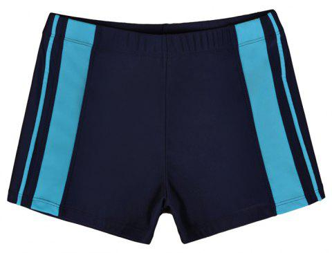 Men's Professional Boxer Hot Spring Fashion Swimming Trunks - DEEP BLUE XL