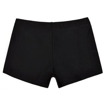 Men's Professional Boxer Hot Spring Fashion Swimming Trunks - BLACK XL