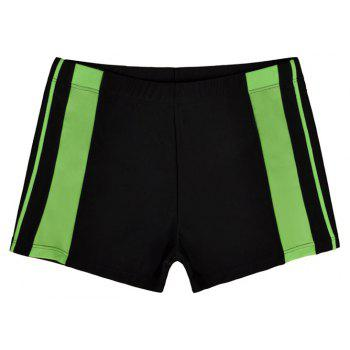 Men's Professional Boxer Hot Spring Fashion Swimming Trunks - NATURAL BLACK L