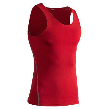 PRO Men's Training  Basketball Fitness Running Speed Dry Sports Vest - RED 3XL