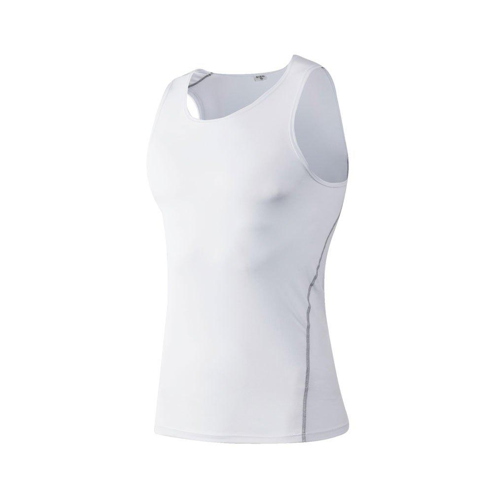 PRO Men's Training  Basketball Fitness Running Speed Dry Sports Vest - WHITE M