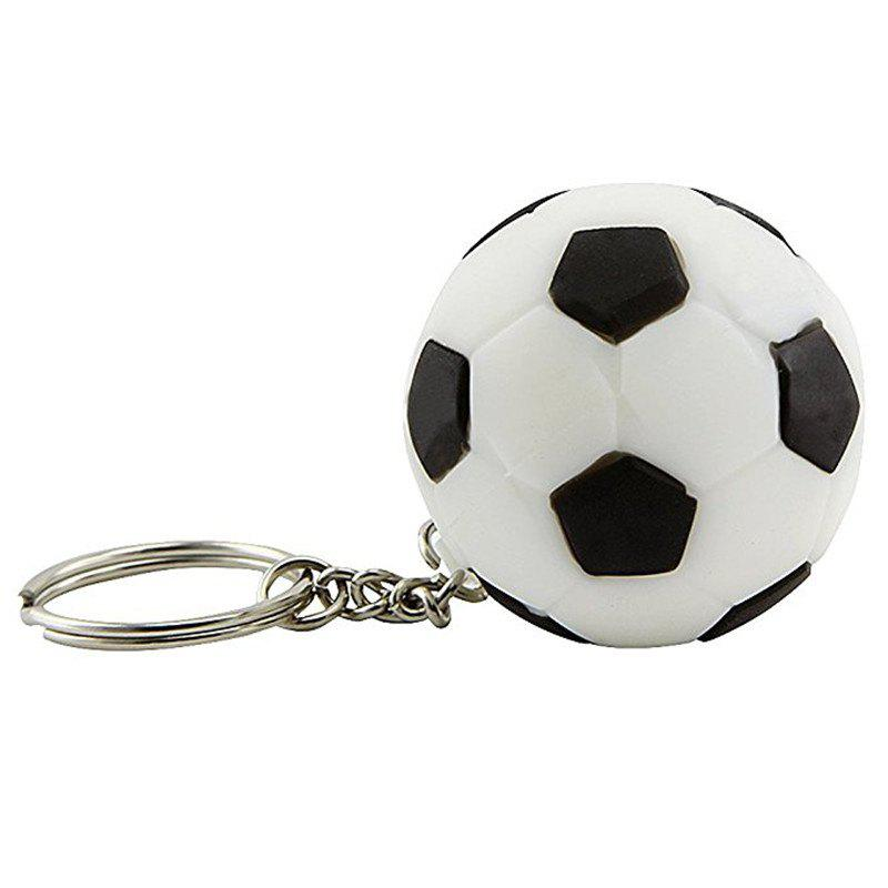 Football Keychain wiht LED Light - WHITE