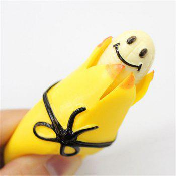 Funny Squeeze  Banana  Release  Pressure Relief Toy - YELLOW