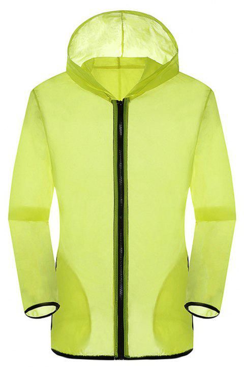 New Summer Ultra-Thin Breathable Long Sleeve Sun Protection Clothing - YELLOW XL