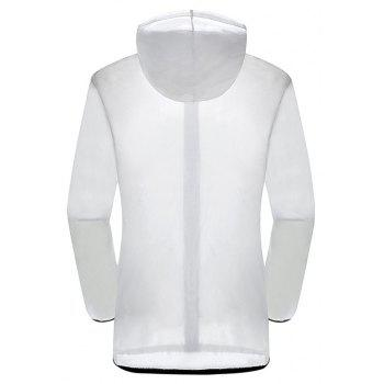 New Summer Ultra-Thin Breathable Long Sleeve Sun Protection Clothing - WHITE XL