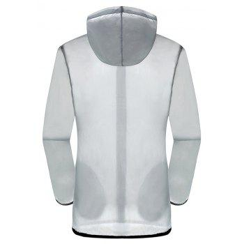 New Summer Ultra-Thin Breathable Long Sleeve Sun Protection Clothing - LIGHT GRAY S