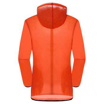 New Summer Ultra-Thin Breathable Long Sleeve Sun Protection Clothing - ORANGE S