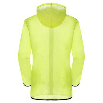 New Summer Ultra-Thin Breathable Long Sleeve Sun Protection Clothing - YELLOW M