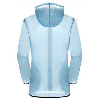 New Summer Ultra-Thin Breathable Long Sleeve Sun Protection Clothing - LIGHT BLUE XL