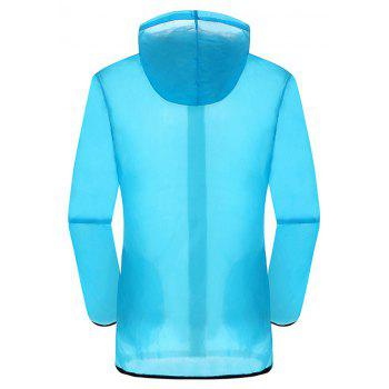New Summer Ultra-Thin Breathable Long Sleeve Sun Protection Clothing - DEEP BLUE M