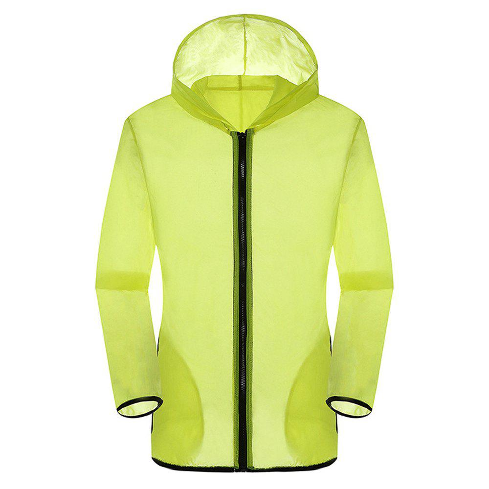 New Summer Ultra-Thin Breathable Long Sleeve Sun Protection Clothing - YELLOW L
