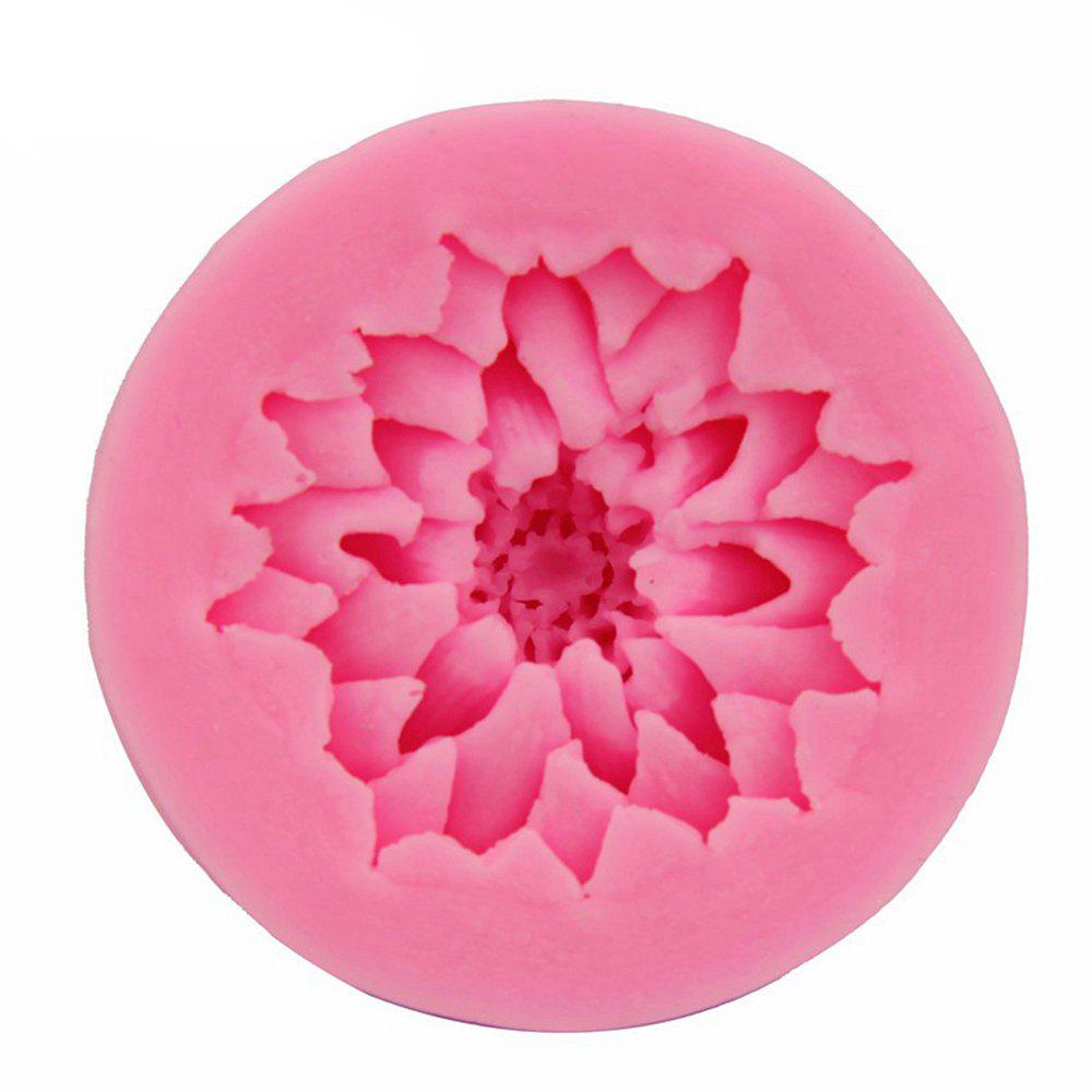 3D Lotus Flower Fondant Cake Mold Candy Sugar Craft Cutter Baking Tool - PINK