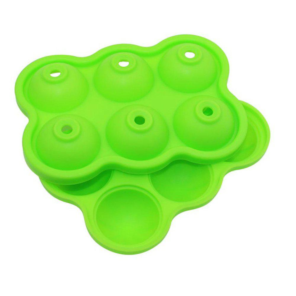 2pcs 6 Hole Silicone Whiskey Ice Hockey Mold Cube Tray DIY Bar Kitchen Tool creative yelling face style ice cube tray mold black