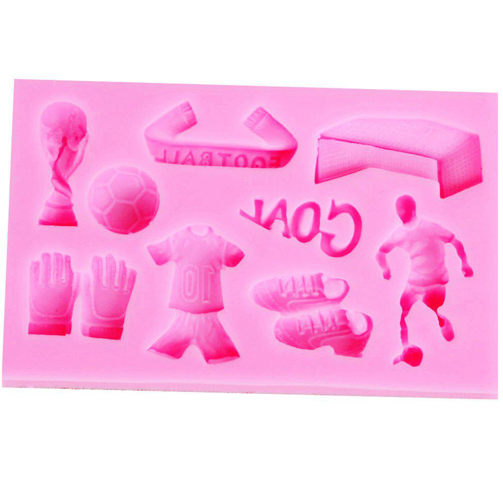 Football Theme Silicone Fondant Mold Cake Chocolate Candy Decoration Tool - PINK