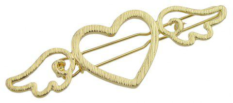 Gold-color Silver Color Heart Wings Pattern Hairgrips - GOLD