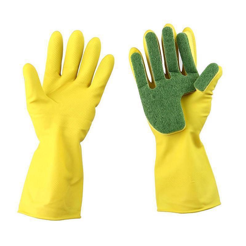 Creative Home Washing Cleaning Scrub Gloves Garden Kitchen Dish Sponge - YELLOW