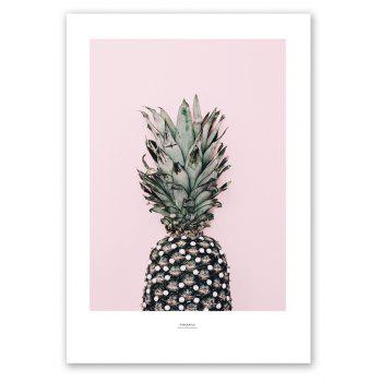 W346 Letters Pineapple Unframed Wall Canvas Prints for Home Decorations 3PCS - multicolor A 21CM X 30CM X 3PCS