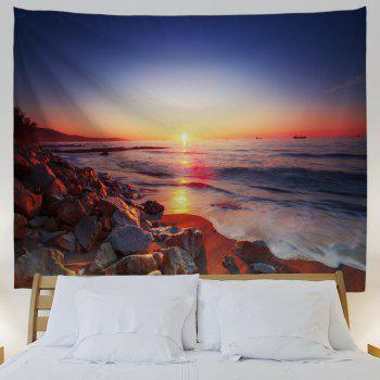 Seaside Stone Heap 3D Printing Home Wall Hanging Tapestry for Decoration - multicolor A W230CMXL180CM