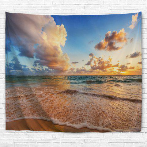 Blue Sea Beach 3D Printing Home Wall Hanging Tapestry for Decoration - multicolor A W229CMXL153CM