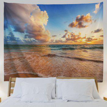 Blue Sea Beach 3D Printing Home Wall Hanging Tapestry for Decoration - multicolor A W153CMXL102CM