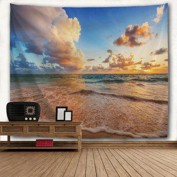 Blue Sea Beach 3D Printing Home Wall Hanging Tapestry for Decoration - multicolor A W153CMXL130CM