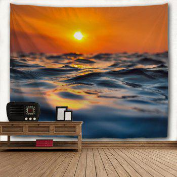 Sea Surface Micro Wave 3D Printing Home Wall Hanging Tapestry for Decoration - multicolor A W153CMXL102CM