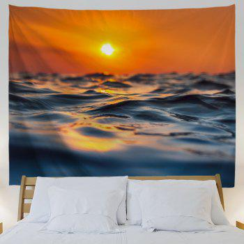 Sea Surface Micro Wave 3D Printing Home Wall Hanging Tapestry for Decoration - multicolor A W153CMXL130CM