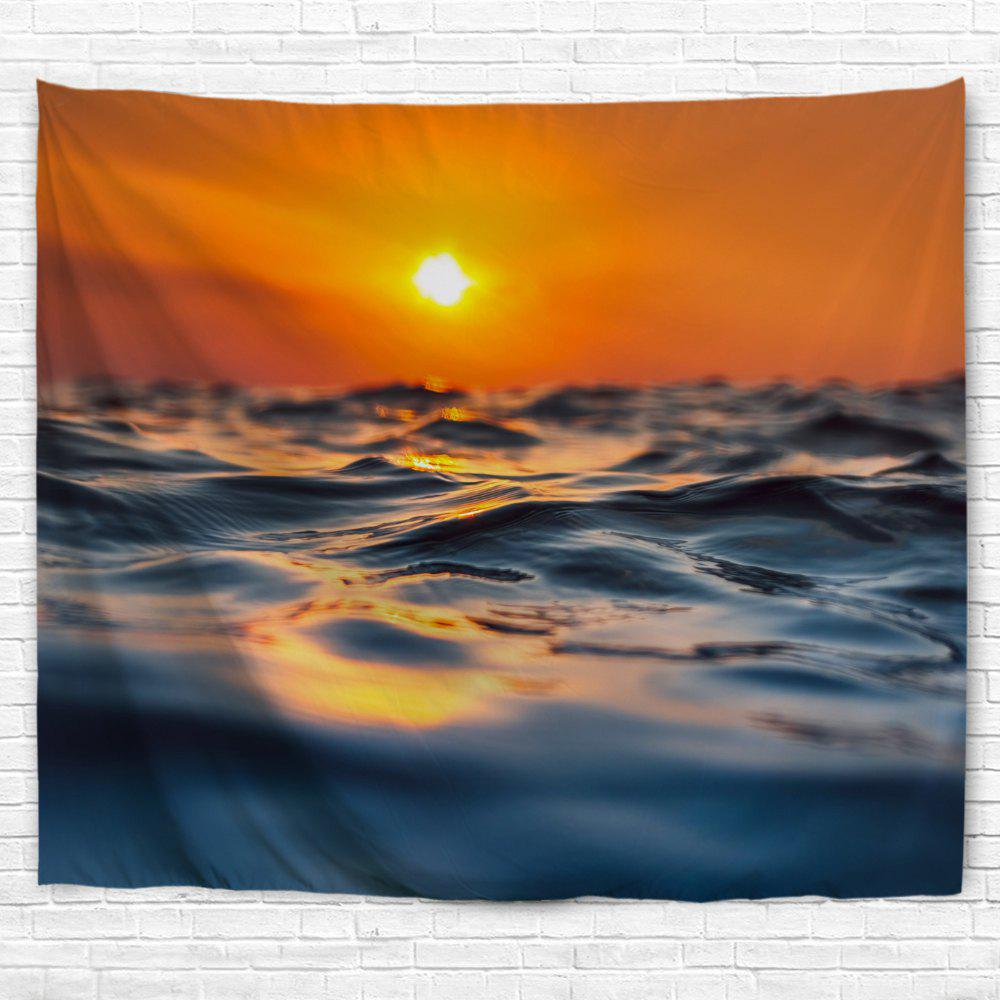 Sea Surface Micro Wave 3D Printing Home Wall Hanging Tapestry for Decoration - multicolor A W229CMXL153CM