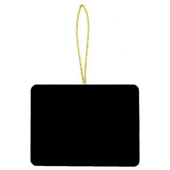 10PCS Creative Message Board Home Decoration Small Blackboard Pendant - BLACK